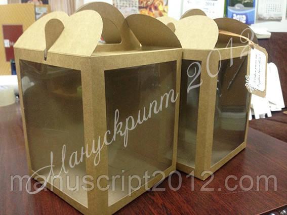 Коробка для кулича, подарков, пряничных домов, фото 1