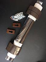 Ручка офисная коричневая RAL 8019 с накладками на цилиндр в компл. (по 2 шт + крепл.) 500мм, Украина