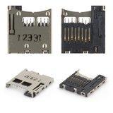 Конектор карти пам'яті для смартфонів Nokia 3250, 5200, 5220, 5300, 5310, 6131, 6151, 6233, 6234, 6300, 7210sn, 7310sn, E50