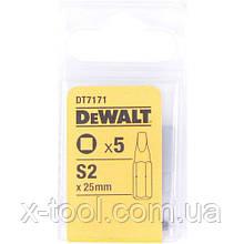 Биты S2 (5 шт.) DeWALT DT7171 (США/Германия)