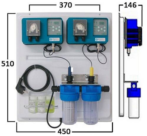 Габаритные размеры станции дозирования Microdos Pool Family 2