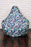 Бескаркасное Кресло мешок груша пуфик XL (120х75), фото 2