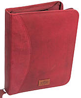 Деловая кожаная папка для документов Always Wild NZ-722 red