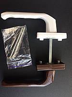 ГАРНИТУР балконный симметричныйкомбинированный белый+коричневый (моноблок)