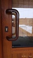 АКЦИЯ!!! Ручка офисная из полиамида КОРИЧНЕВАЯ+комплект накладок на цилиндр (комплекты по 2 шт +крепления)