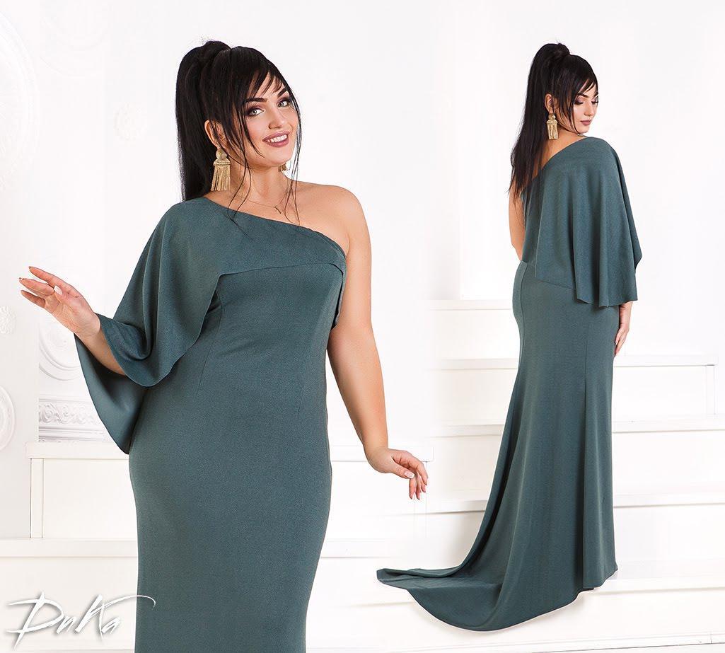 Платье в пол на одно плечо