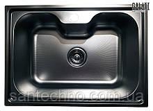 Прямоугольная кухонная врезная мойка из нержавеющей стали   Galati Bella Textura