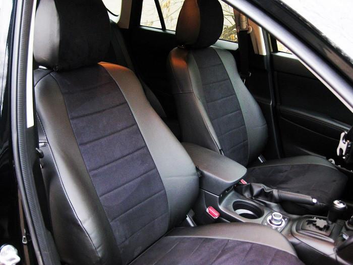 Чехлы на сиденья Шевроле Нива (Chevrolet Niva) (универсальные, кожзам+автоткань, пилот)