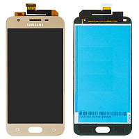 Дисплейный модуль (дисплей и сенсор) для Samsung Galaxy J5 Prime G570F/DS, золотистый, оригинал