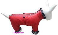 Комбинезон зимний для собак, красный, (размер 3)