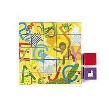 Кубики Janod Кубики картонные  - Алфавит