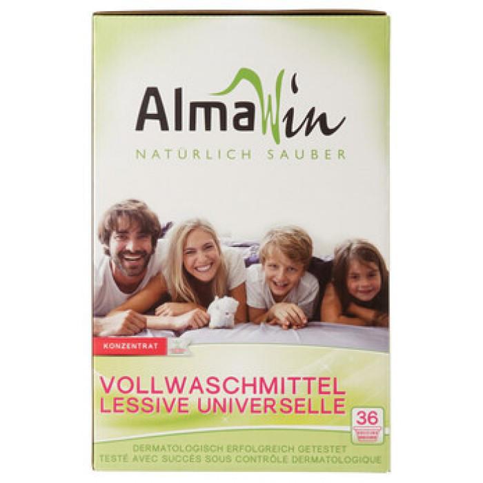 Концентрированный высокоэффективный стиральный порошок органический AlmaWin, 2 кг