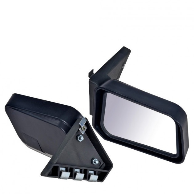 Зеркало боковое на ВАЗ 2101-2107 черное на болтах