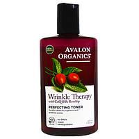 Выравнивающий тоник против морщин с коэнзимом Q10 и маслом шиповника *Avalon Organics (США)*, фото 1