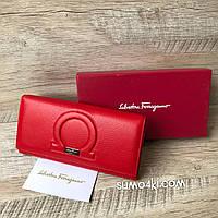 Стильненький кожаный кошелёк Salvatore Ferragamo, фото 1