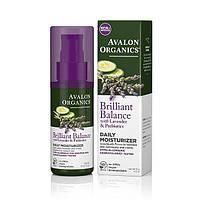 Денний зволожуючий засіб з екстрактами лаванди, огірка та пребіотиками *Avalon Organics (США)*, фото 1