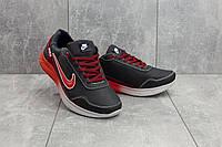 Мужские кроссовки кожаные весна/осень синие-красные CrosSAV 22, фото 1