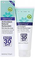 Антиоксидантный натуральный лосьон для тела SPF 30 * Derma E (США)*