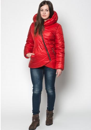 c21ebc6a708 Купить Осенняя стеганая куртка с капюшоном (красный) 8335 Украина ...