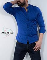 Мужская рубашка синего цвета