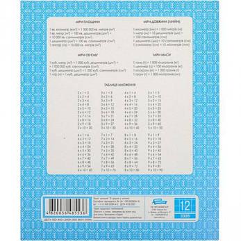 Тетрадь ФОНОВАЯ 12 листов «Мрiя» клетка       20 штук                2326к, фото 2