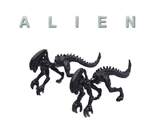 Серьга кафф на одно ухо Чужой Alien  черный