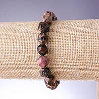 Браслет натуральный камень Родонит многогранник d-8х10мм