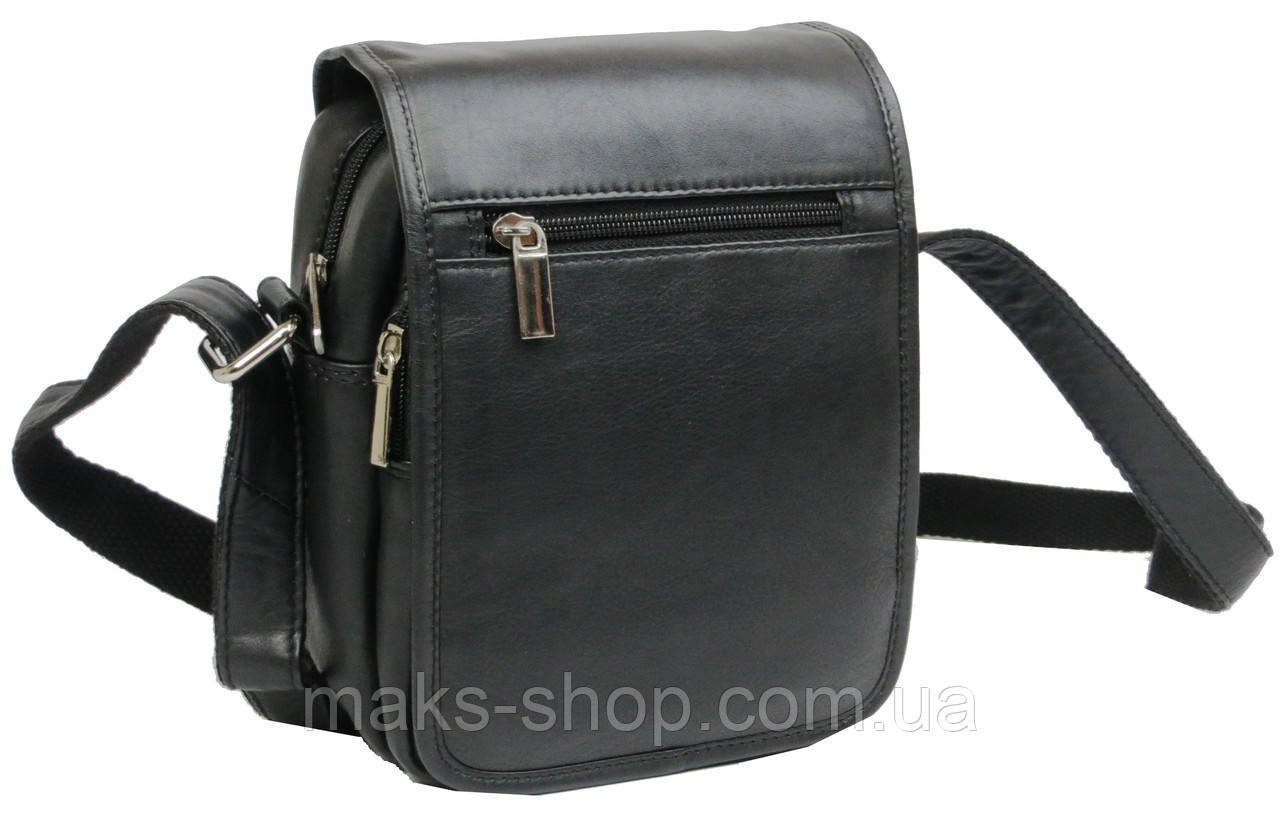 28cdcc82665e Кожаная сумка мужская Always Wild 5047SPN черная - Maks Shop- надежный и  перспективный интернет магазин