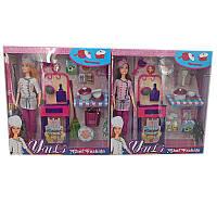 "Кукла типа ""Барби""Повар"" JX200-1 (36шт/2) 2 вида, кухонная мебель, посуда, в кор."