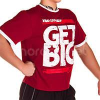 Get Big, Футболка GET BIG красная MD3676, фото 1
