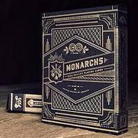 Карты игральные Monarchs Blue от theory11