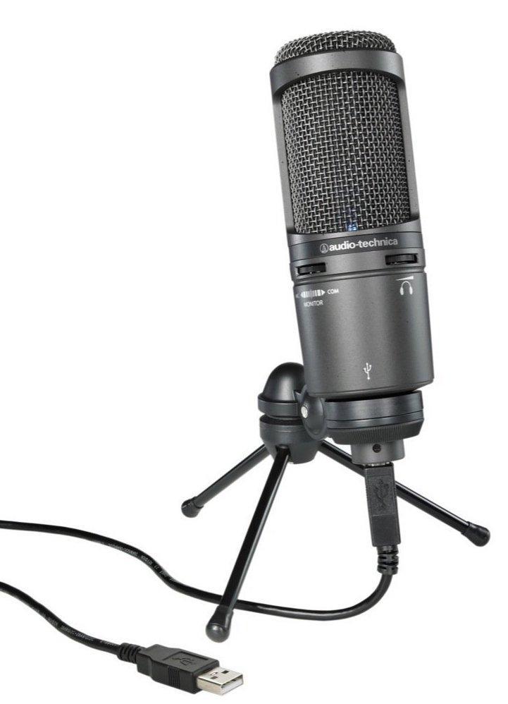 Мікрофон студійний конденсаторний Audio-Technica AT2020 USB Plus