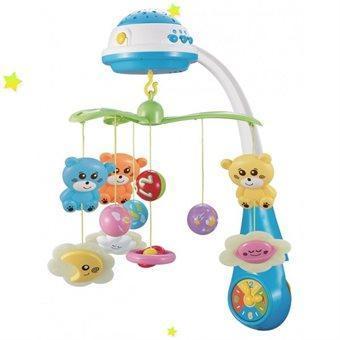 Музыкальный мобиль Baby Mix FS-35604 с проэктором blue