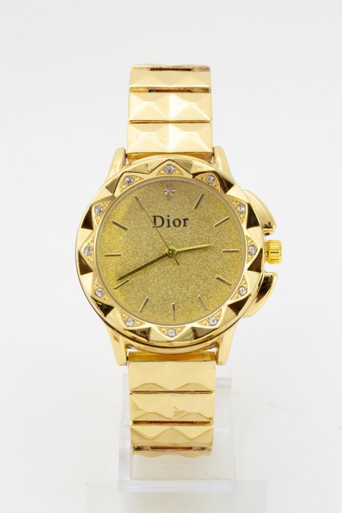 Женские  наружные часы,золотой корпусициферблат