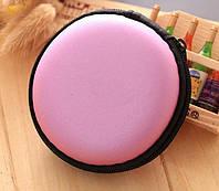 Чехол для наушников круглый сиреневый, фото 1