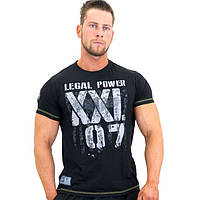 LegalPower, Футболка для бодибилдинга XXL 97 Eagle, черная