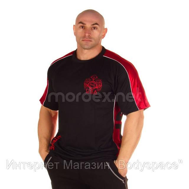 NPC, Футболка для бодибилдинга Micro/Polyester Top, черно-красная