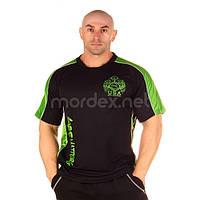 NPC, Футболка для бодибилдинга Micro/Polyester Top, черно-зеленая, фото 1