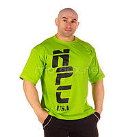 NPC, Футболка для бодибилдинга NPC USA Cotton T-Shirt, зеленая
