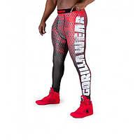 Gorilla Wear, Леггинсы для тренировок Bruce Men's Tights Red/Grey, фото 1