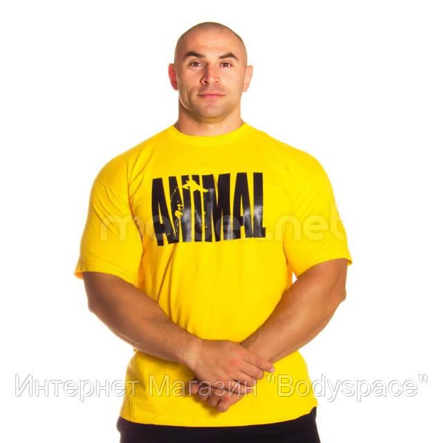 Universal Nutrition, Футболка для бодибилдинга Animal Iron Iconic, желтая