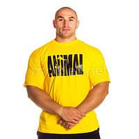 Universal Nutrition, Футболка для бодибилдинга Animal Iron Iconic, желтая, фото 1