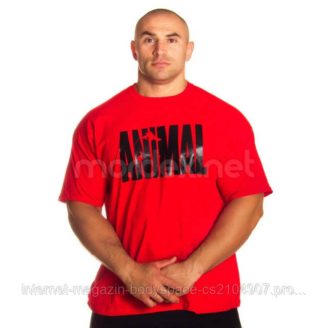 Universal Nutrition, Футболка для бодибилдинга Animal Iron Iconic, красная