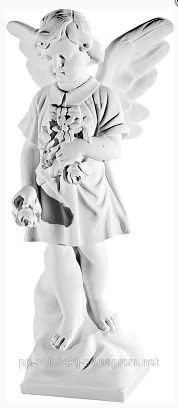 Ритуальна скульптура Ангелочка на пам'ятник гранітний К232