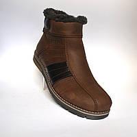 Большие размеры Коричневые зимние мужские ботинки Rosso Avangard #294 BS Brown кожаные