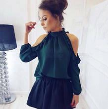 Женская модная блузка с рюшами