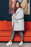 Модная шуба с искусственного меха с капюшоном оверсайз GF 2/071-4, фото 1