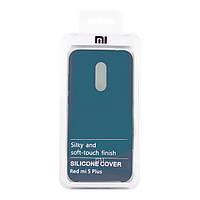 Чехол Silicone Cover для Xiaomi Redmi 5 Plus (Blue)
