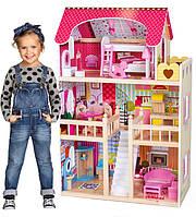 Кукольный домик с мебелью, кукольный домик для барби.Детский кукольный домик дереянный с мебелью!