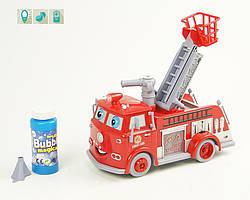 Музыкальная Пожарная машина Тачки, свет, музыка, пускает мыльные пузыри, код B838B